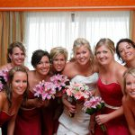 best friend wedding group photography in cozumel